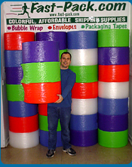 Great Wall of Fast-Pack, made of Color Bubble Wrap