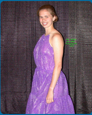Purple Bubble Wrap Gown Dress